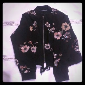 Floral bomber style jacket